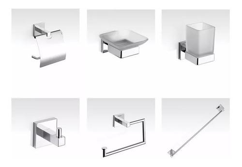 combo accesorios piazza unique 6 piezas 5 años gtia baño