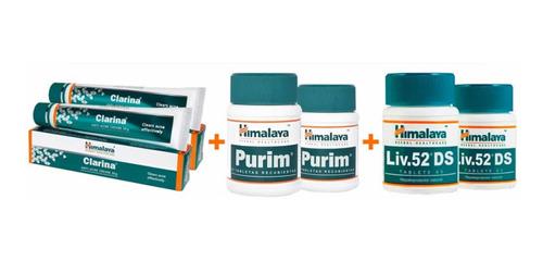 combo acné himalaya 2 purim, 2 liv 52, 2 clarina envío grati