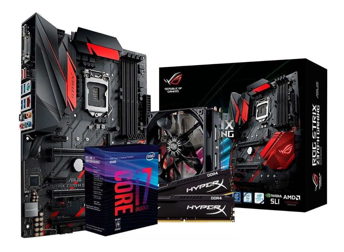Combo Actualiz Rog Intel Core I7 8700k Mother Asus Z370 16gb