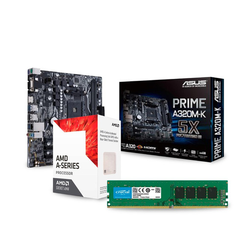 combo actualizacion amd a10 9700 8gb mother hdmi