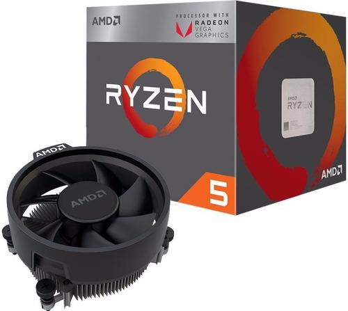 combo actualizacion amd ryzen 5 2400g + b350 + 8gb gamer
