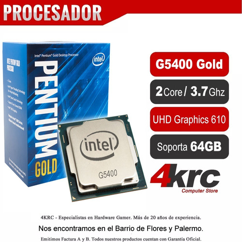 combo actualizacion intel pentium g5400 con ddr4 4gb 2400mhz mother h310m vga hdmi