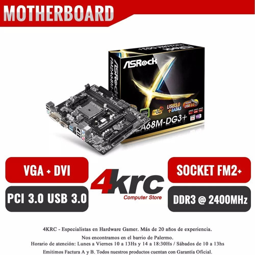 combo actualización pc amd a6 7480 mother a68 vga 4gb matx