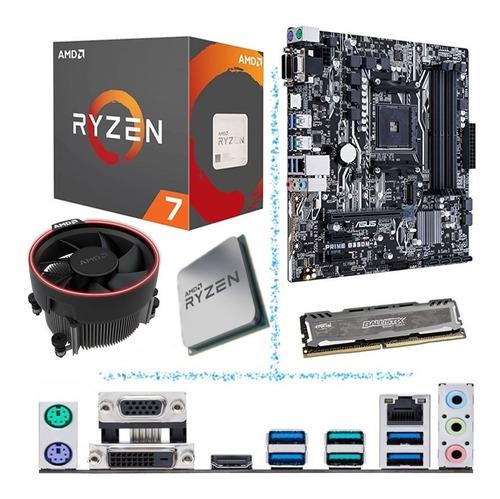 combo actualización pc gamer amd ryzen 5 2600 con mother msi b450m y ddr4 8gb 3200mhz