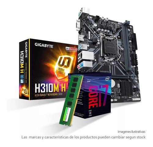 combo actualizacion pc gamer i7 8700 4.2ghz 8va gen mother h310m con ram ddr4 8gb 2400mhz