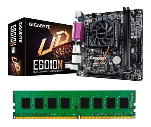 combo actualización pc gigabyte amd dual core ga-e6010n 8gb