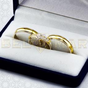 3226021a1cef Combo Alianzas Plata 950 Y Oro 18k Casamiento Cintillo Boda