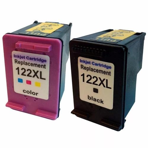 combo alternativo cartucho 122xl negro y color  2050 3050