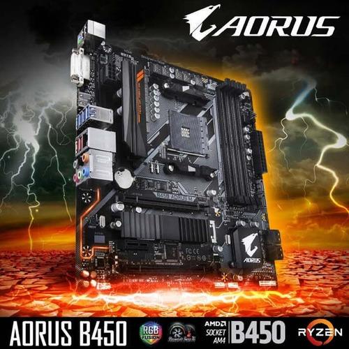 combo amd ryzen 5 2600 + gigabyte aorus b450m + ram 8gb 3000
