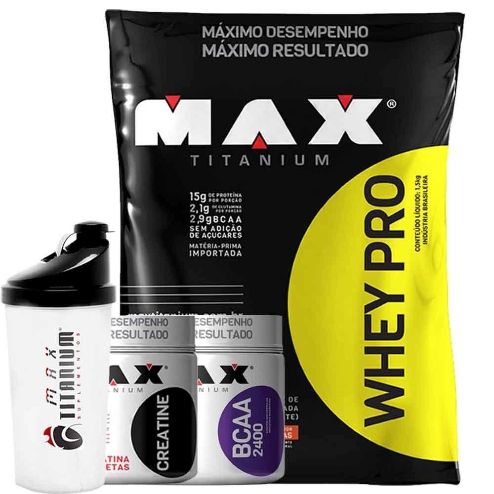 Combo Anabolismo Ganho De Massa Muscular Max Titanium - R..