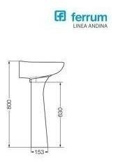 combo andina ferrum inodoro lavatorio columna baño completo
