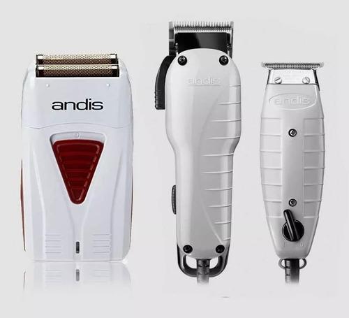 combo andis barber maquina, terminadora y afeitadora lithium