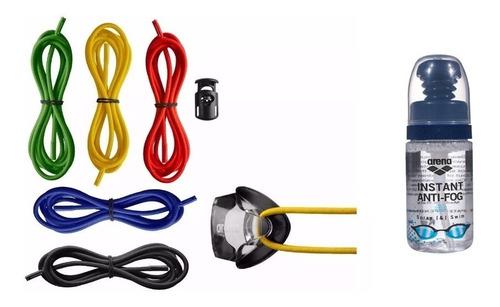 combo arena goggles strap kit x 5 unidades + instant antifog