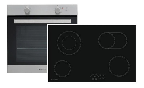 combo ariston horno gas ga3 124 anafe elec. hr704 digiya