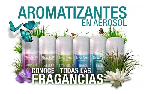 combo aromatizador digital 01 newscent + 1 fragancia + pilas