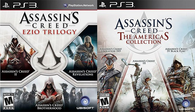 Combo Assassins Creed Americas Collection Ezio Trilogy Ps3 R