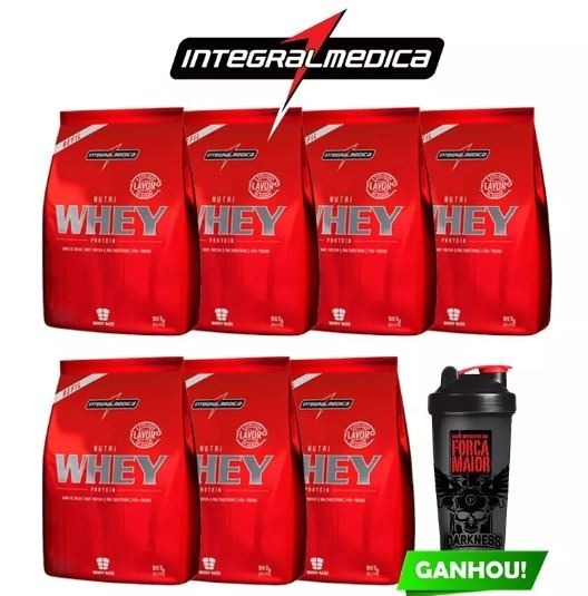 f990605fe Combo Atacado 7x Whey Nutri Isolado 900g + Shaker - Integral - R ...