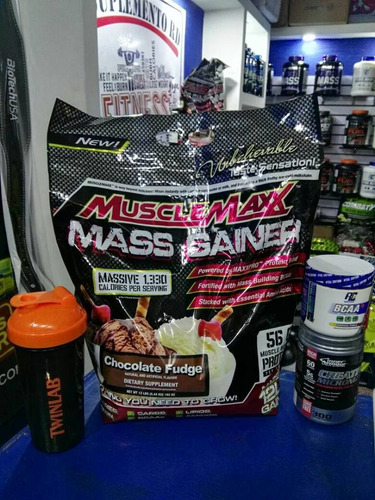 combo aumento masa muscular muscle maxx 12lbs creatina bcaa