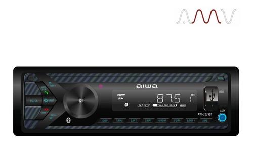 combo auto radio aiwa 55w x4 bluetooth +  2 parlantes amv