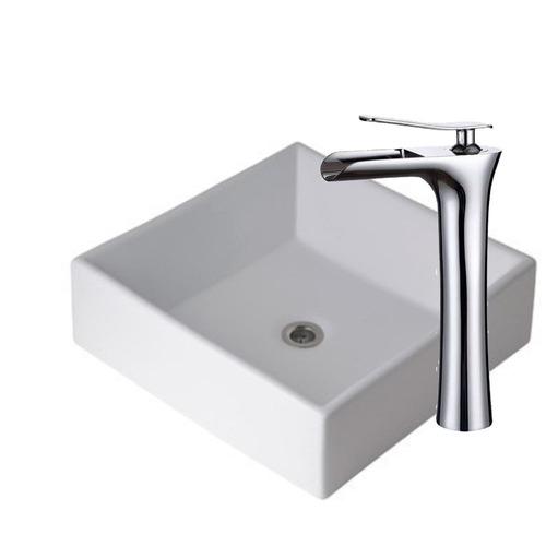 combo bacha piazza a037 lavatorio cascada alta ultragrif