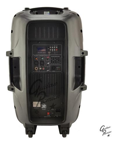 combo bafle activo bluetooth + pie microfono cable 150w rms
