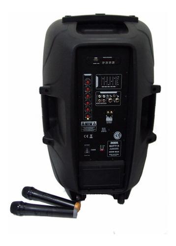 combo bafle potenciado moon batt15u tripode batería 2 mic