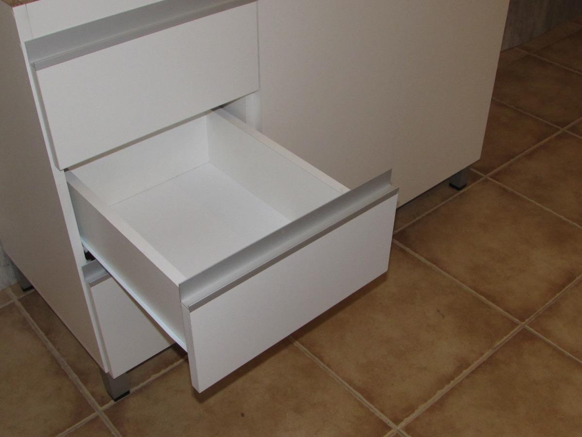 combo bajo mesada y alacena moderna perfil j aluminio oferta