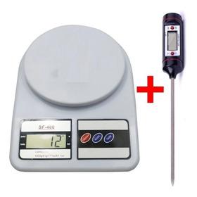 Combo Balanza Cocina 1g - 10kg + Termometro Digital Comida