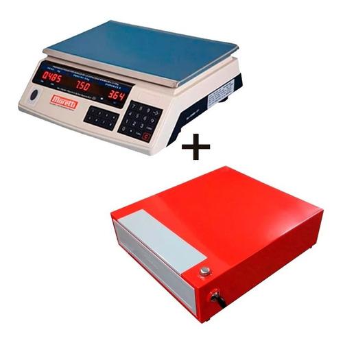 combo balanza electronica moretti lpa 15 kg + gaveta 4 div.