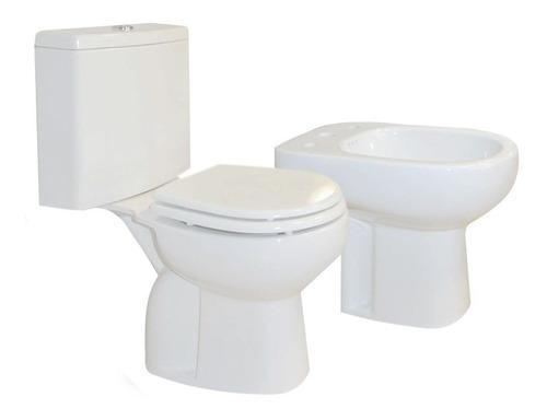 combo baño full mampara vanitory 60cm inodoro bidet - cuotas