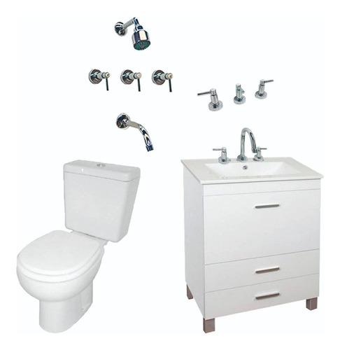 combo baño set completo vanitory griferia inodoro cuotas
