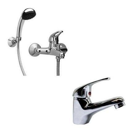 combo baño vanitory 55cm bacha cisne ducha espejo set 5 pza