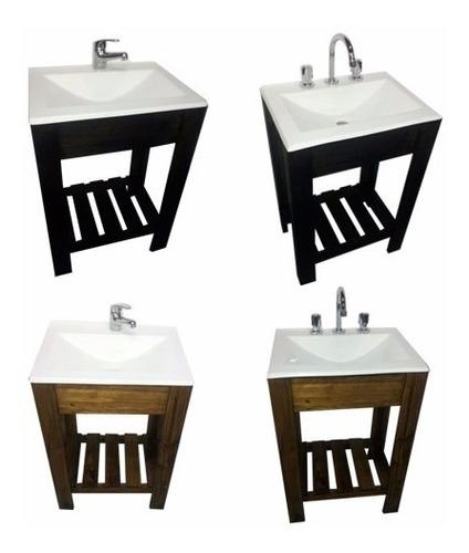 combo baño vanitory 55cm cisne espejo set toallero sifon