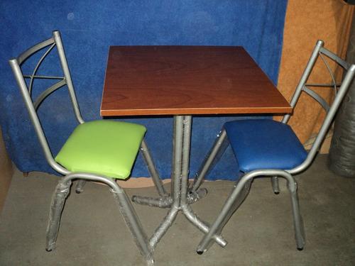 combo bar mesa y 2 sillas en caño