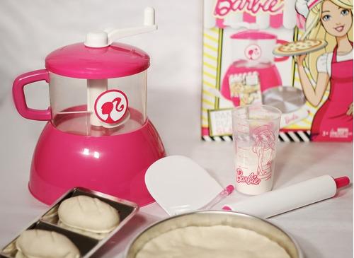 combo barbie chef: pochoclera + pan y pizza + cupcake