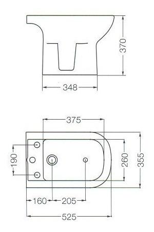 combo bari ferrum bidet + inodoro largo + deposito dual
