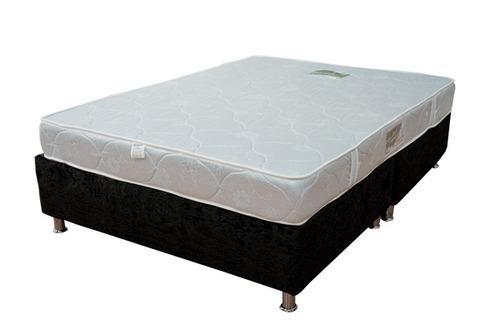 combo base cama dividida colchón semi ortopédico semi doble
