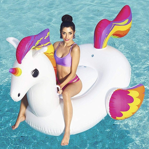 combo bestway inflable unicornio gigante 41113 con inflador