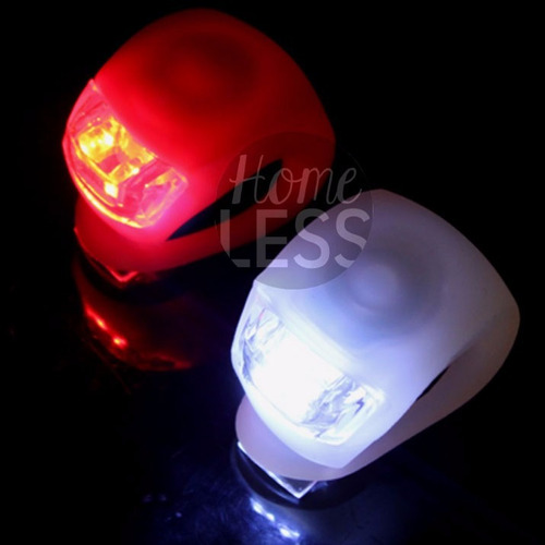 combo bicicleta 2 luces led + luz trasera + kit reparación