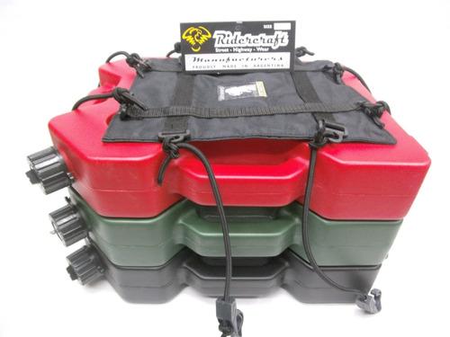 combo bidon combustible extra chato +red elastica ridercraft