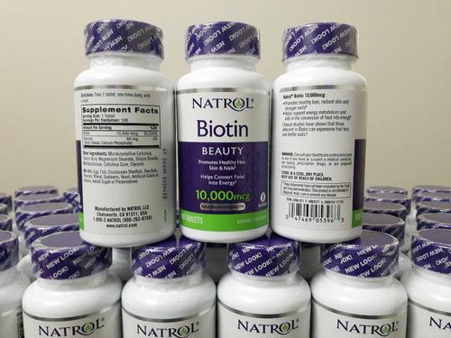 combo biotina natrol 10.000mcg + saw palmetto 450 mg