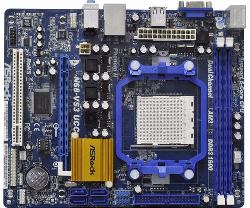 combo board asrock n68-vs3 ucc +procesador + memoria + !!lee