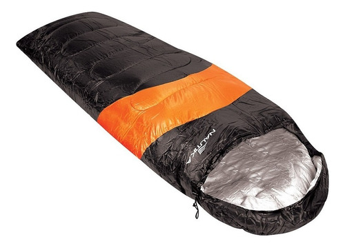 combo bolsa de dormir ntk con capucha + aislante termico