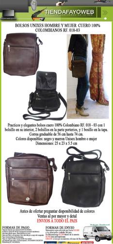 combo bolso cuero carriel maletin 100% cuero billetera