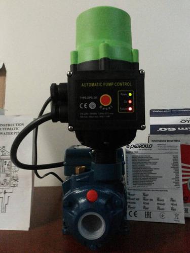 combo bomba 0,5 hp pedrollo & press control dps-3 silenciosa