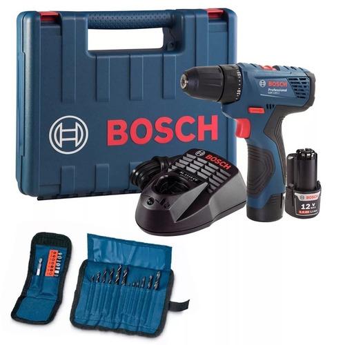 combo bosch atornillador gsr 120-li + kit 21 accesorios