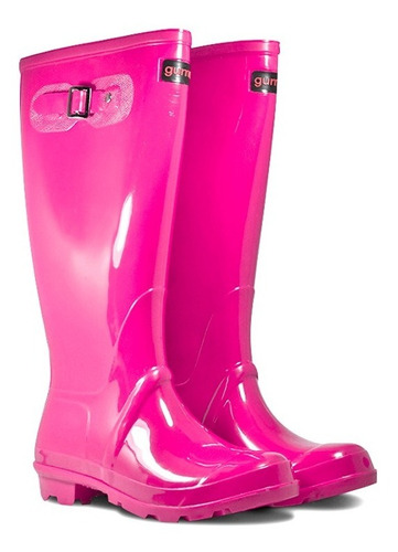 combo bota lluvia mujer gummi welli caña x 2 pares! e gratis
