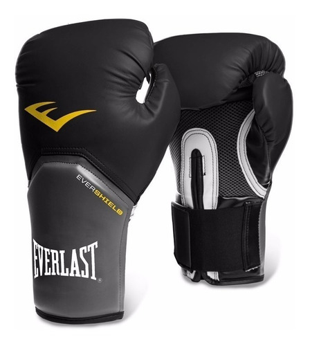 combo box negro everlast: guantes elite 12 oz+vendas 120
