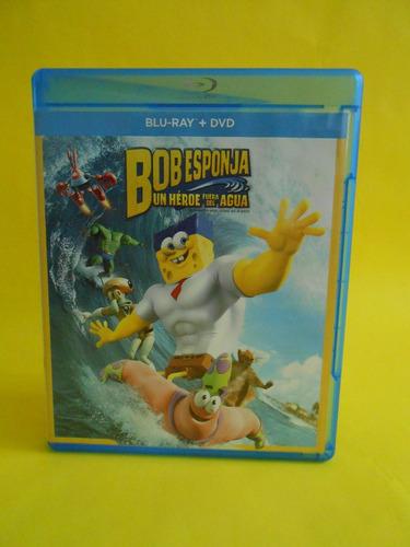 combo br + dvd - bob esponja: un héroe fuera del agua