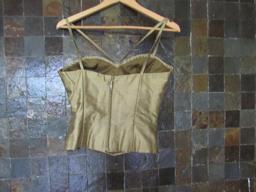 combo brasier negro talla 34 c corset verde oliva talla m